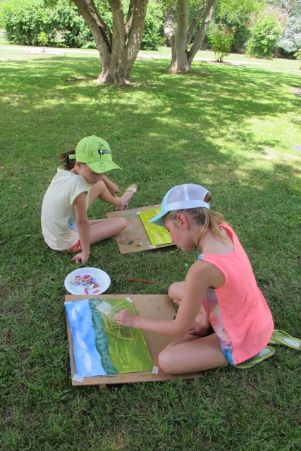 January art lessons in the garden
