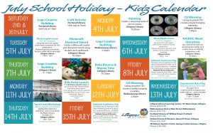 Winter School Holiday Calendar Poster