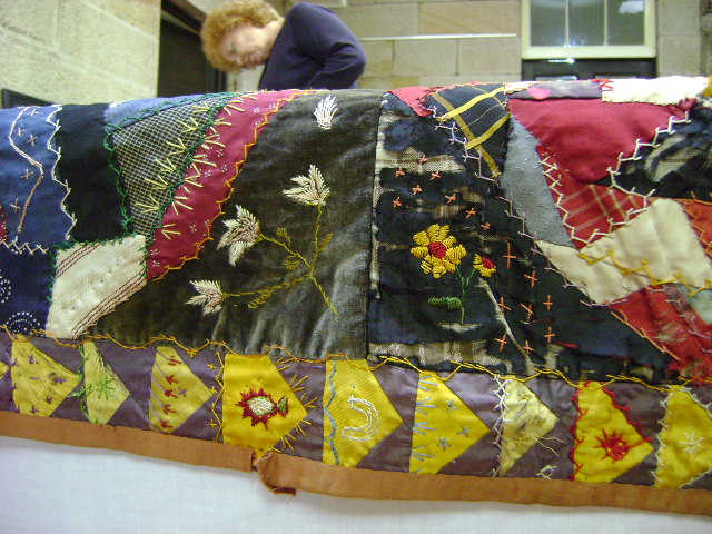 The Leake-Sutton Quilt back on display at Eskbank House